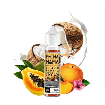 Charlie's Chalk Dust - Pachamama - Vape eJuice - Peach Papaya Coconut - 60ml - ESMA Approved