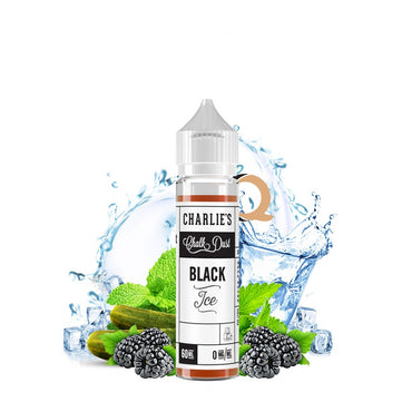 Charlie's Chalk Dust - Black & White Label - Vape eJuice - Black Ice - 60ml - ESMA Approved