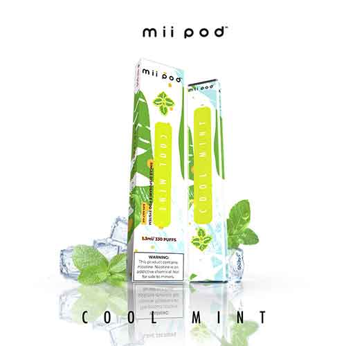 Cool Mint - 330 Puffs Mii Disposable Pod Vape in UAE. Dubai, Abu Dhabi, Sharjah, Ajman - I Vape Dubai