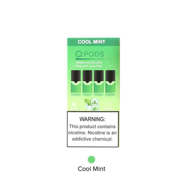 QPODS JUUL COMPATIBLE 4PODS IN A PACK COOL MINT 50MG