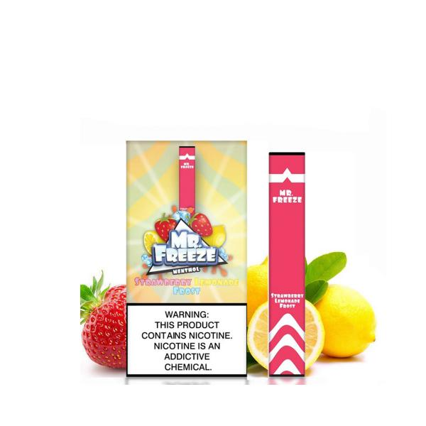 Strawberry Lemonade Frost - 330 Puffs Mr. Freeze Disposable Pod Vape in UAE. Dubai, Abu Dhabi, Sharjah, Ajman - I Vape Dubai