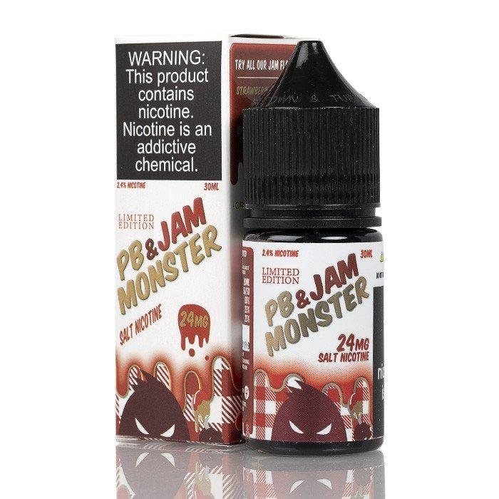 Strawberry PB Jam Monster Saltnic eJuice in UAE. Dubai, Abu Dhabi, Sharjah, Ajman - I Vape Dubai