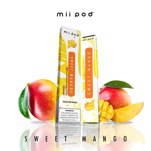 Sweet Mango 330 Puff Mii Disposable Pod Vape in UAE. Dubai, Abu Dhabi, Sharjah, Ajman - I Vape Dubai