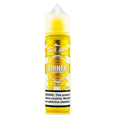 LEMON SHERBET BY TUCK SHOP FROM DINNER LADY-60ML NEW FLAVOUR LINE
