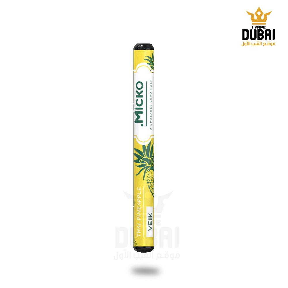 Micko Thai Pineapple VEIIK Disposable Pod Vape in UAE. Dubai, Abu Dhabi, Sharjah, Ajman - I Vape Dubai