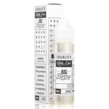 Charlie's Chalk Dust - Black & White Label - Vape eJuice - Big Berry - 60ml - ESMA Approved