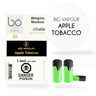 Bo One Pods - Bo One Caps - Big Vapour Apple Tobacco