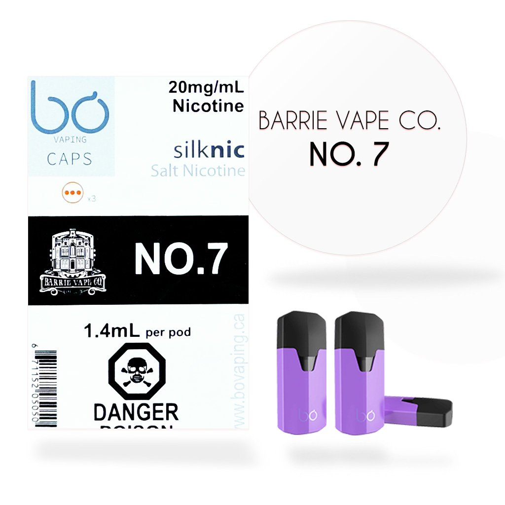 No. 7 by Barrie Vape Co. (Bo One Caps) JWELL Bo One Prefilled Vape Pods in UAE. Dubai, Abu Dhabi, Sharjah, Ajman - I Vape Dubai