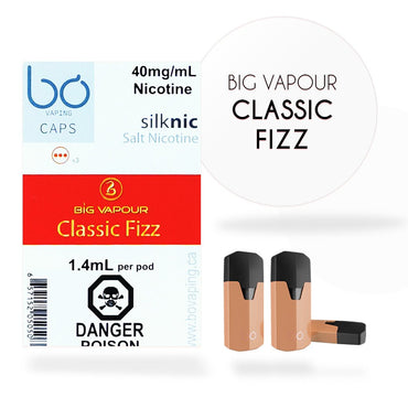 Bo One Pods - Bo One Caps - Big Vapour Classic Fizz Cola & Vanilla
