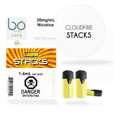 Bo One Pods - Bo One Caps - Cloudfire Stacks Maple Pancake