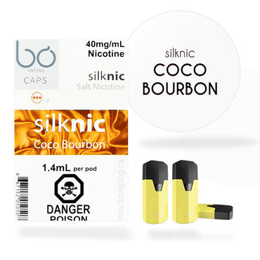 Bo One Pods - Bo One Caps - SilkNic Coco Bourbon
