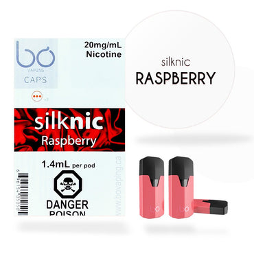 Bo One Pods - Bo One Caps - SilkNic Raspberry