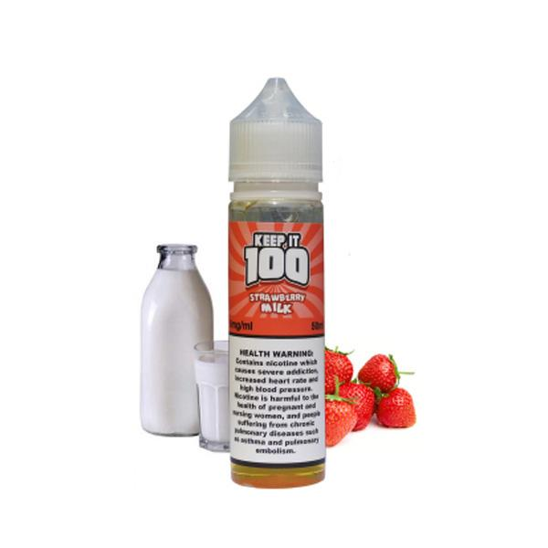 Strawberry Milk Keep It 100 E-Juice in UAE. Dubai, Abu Dhabi, Sharjah, Ajman - I Vape Dubai