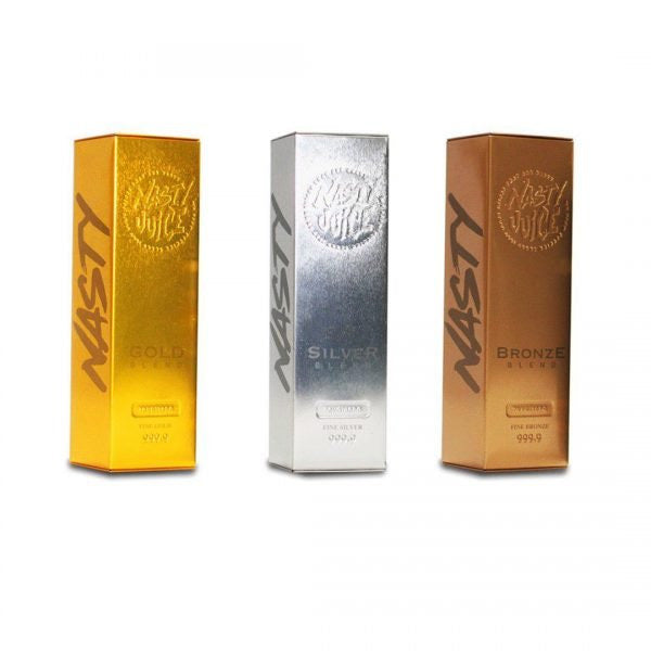 Nasty Tobacco Series - Gold, Silver, Bronze - Bundle Pack x 3 - 60ml