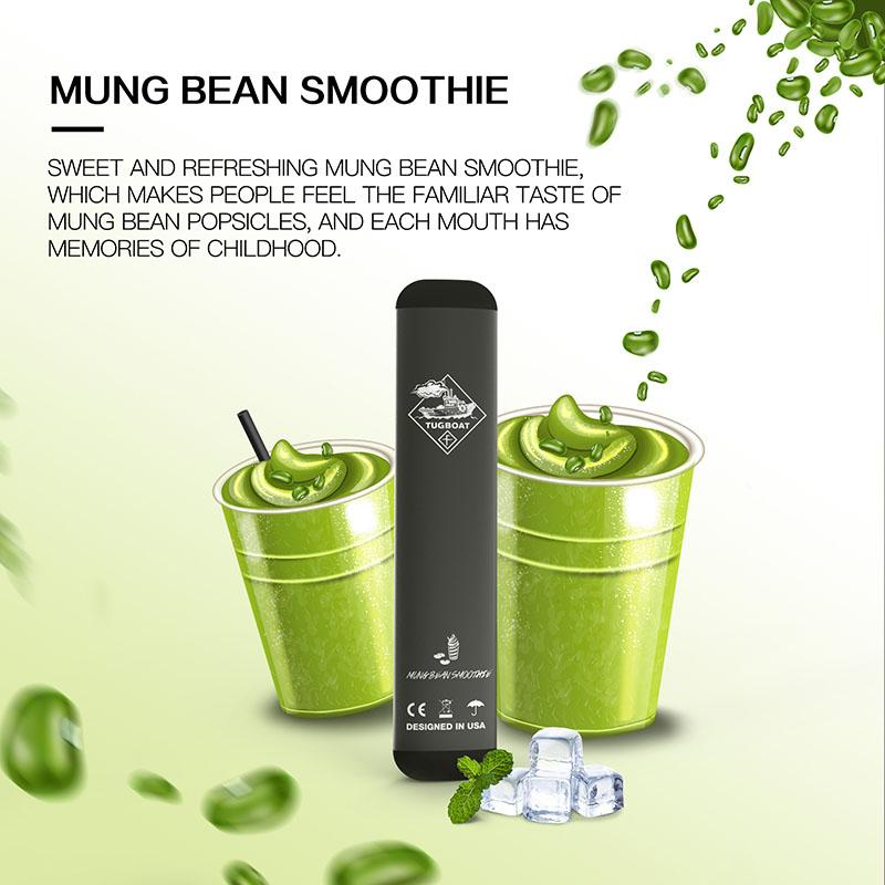 Mung Bean Smoothie Tugboat V2 Disposable Pod Vape in UAE. Dubai, Abu Dhabi, Sharjah, Ajman - I Vape Dubai