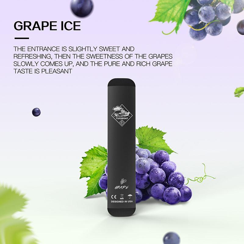 Grape Ice Tugboat V2 Disposable Pod Vape in UAE. Dubai, Abu Dhabi, Sharjah, Ajman - I Vape Dubai