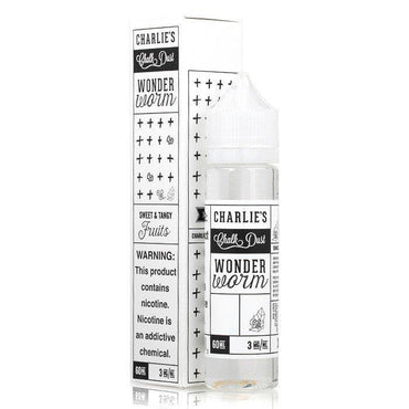 Charlie's Chalk Dust - Black & White Label - Vape eJuice - Wonder Worm - 60ml - ESMA Approved