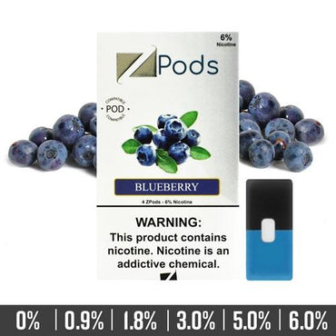 ZIIP Pods - ZPods Blueberry - 4 Pods / Pack