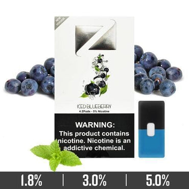 ZIIP Pods - ZPods Blueberrry Iced Flavor - 4 Pods / Pack