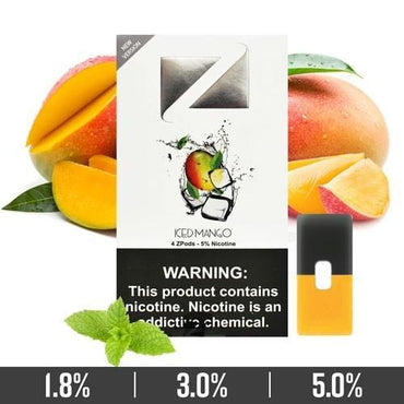 ZIIP Pods - ZPods Mango Iced - 4 Pods / Pack