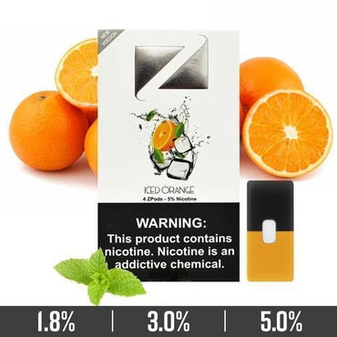 ZIIP Pods - ZPods Iced Orange - 4 Pods / Pack
