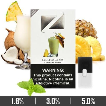 ZIIP Pods - ZPods Iced Pina Colada - 4 Pods / Pack