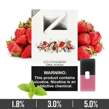 ZIIP Pods - ZPods Strawberry Iced - 4 Pods / Pack