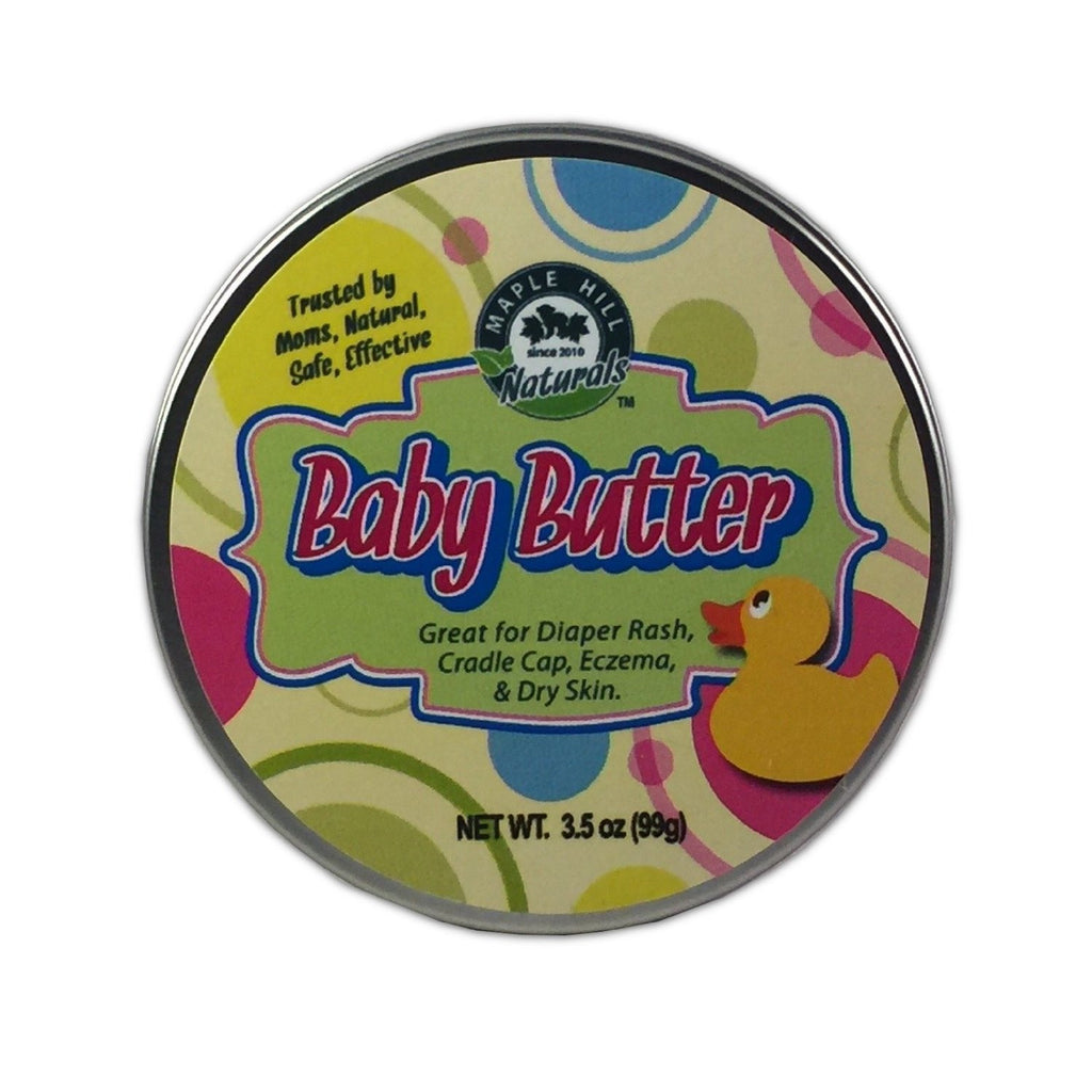 Baby Butter Natural Balm - Healing Ointment, Diaper Rash and Dry Skin Protectant