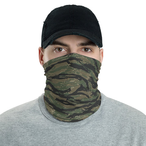 Tiger Stripe Camo Neck Gaiter Face Shield