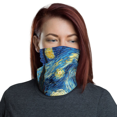 Starry Night Neck Gaiter Face Shield