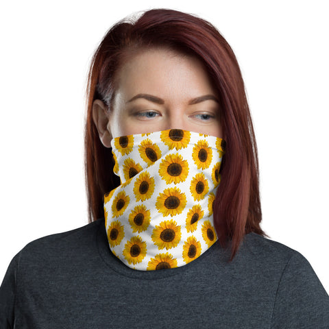 Sunflower Neck Gaiter Face Shield