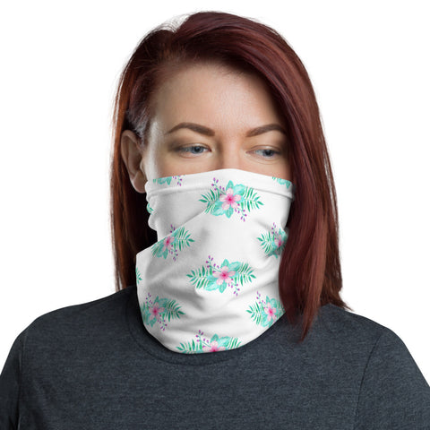 Aloha Floral Neck Gaiter Face Shield