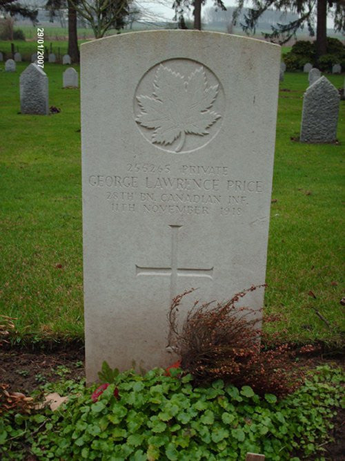 The last Canadian killed in the WW1 minutes before armistice