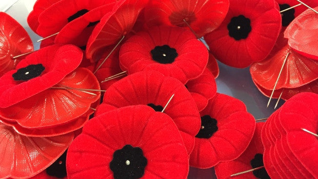 Wear your poppy close to your heart!