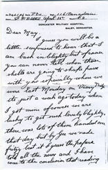 Veteran Stories: Francis Bathe  a letter from The Battle of Vimy ridge