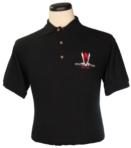 Vimy Ridge Black Short Sleeve Golf/Polo Shirt