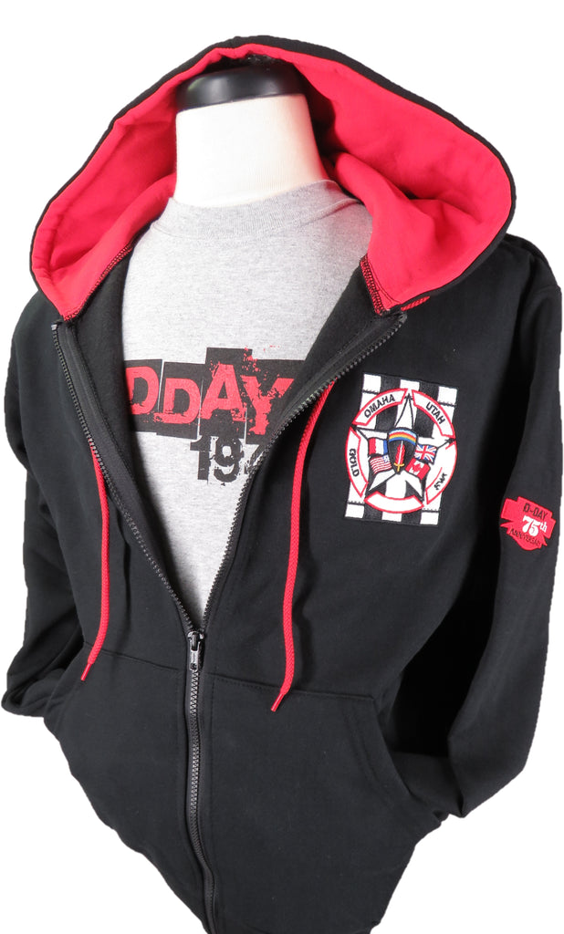 Commemorative D-Day 75th Anniversary Full Zip Hoodie