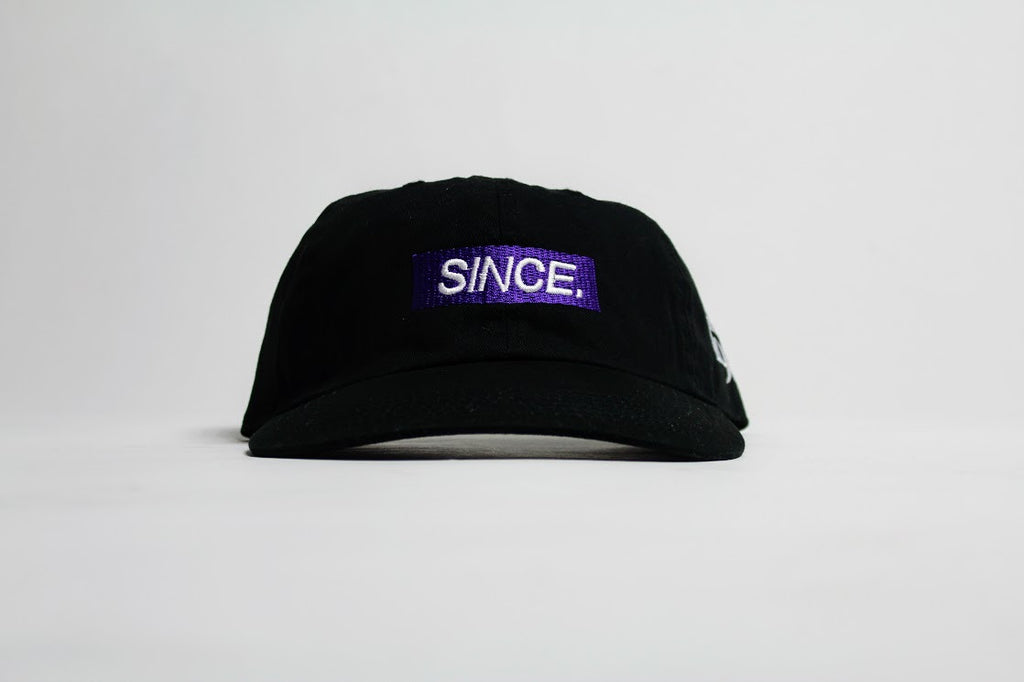 Black x Purple SINCE. Mini Box Strapback