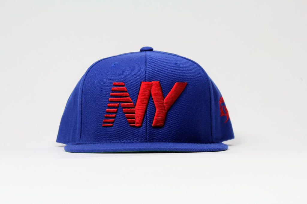 Royal x Red NY Balance Snapback
