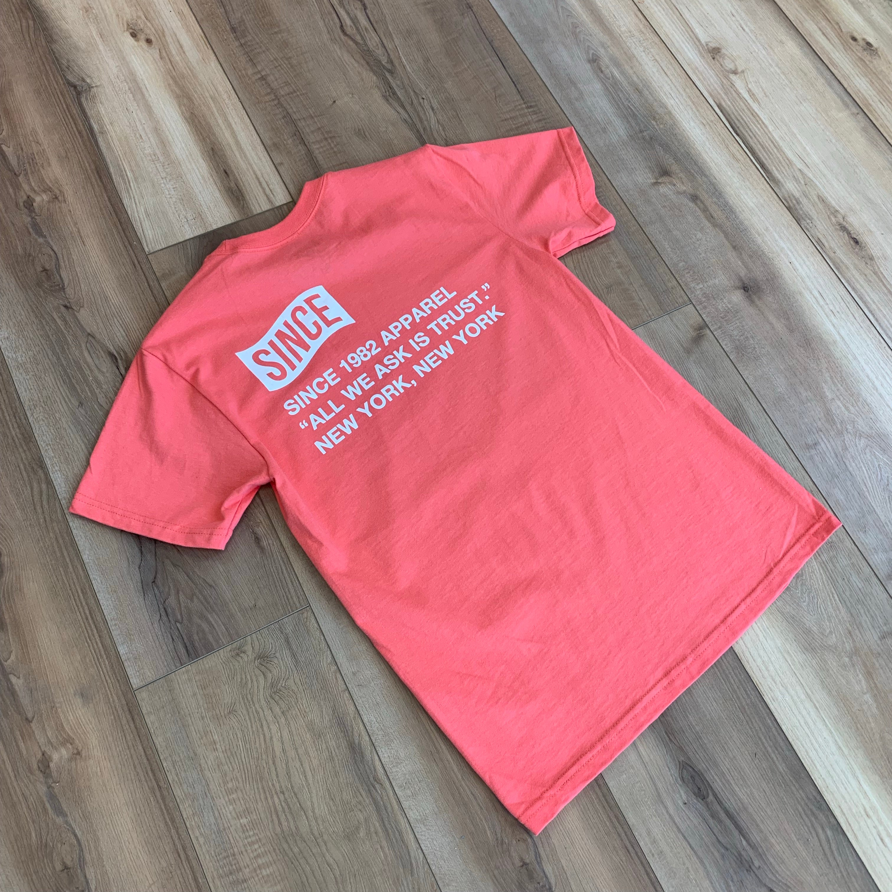 Coral Since Info Tee