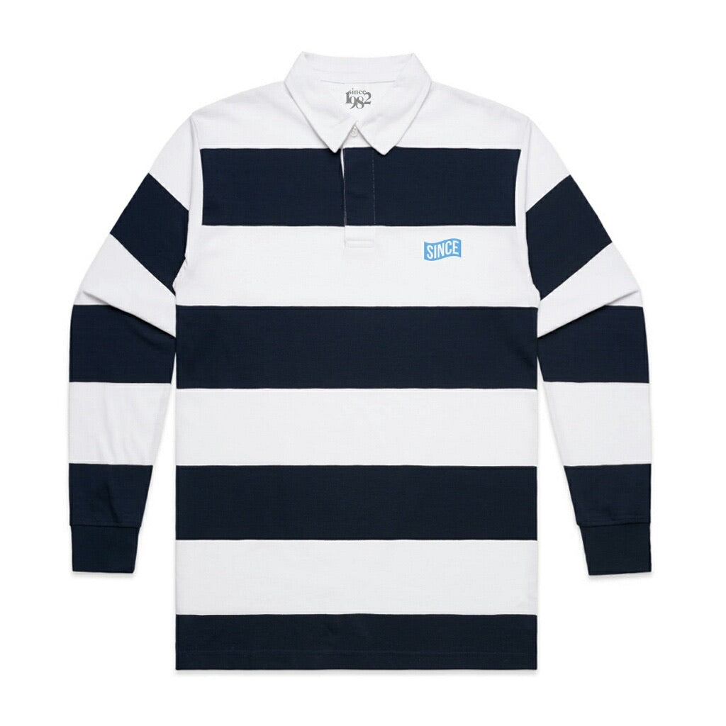 NAVY STRIPED RUGBY