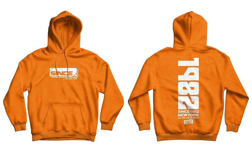 Orange Tech Hoody (TRUE TO SIZE)