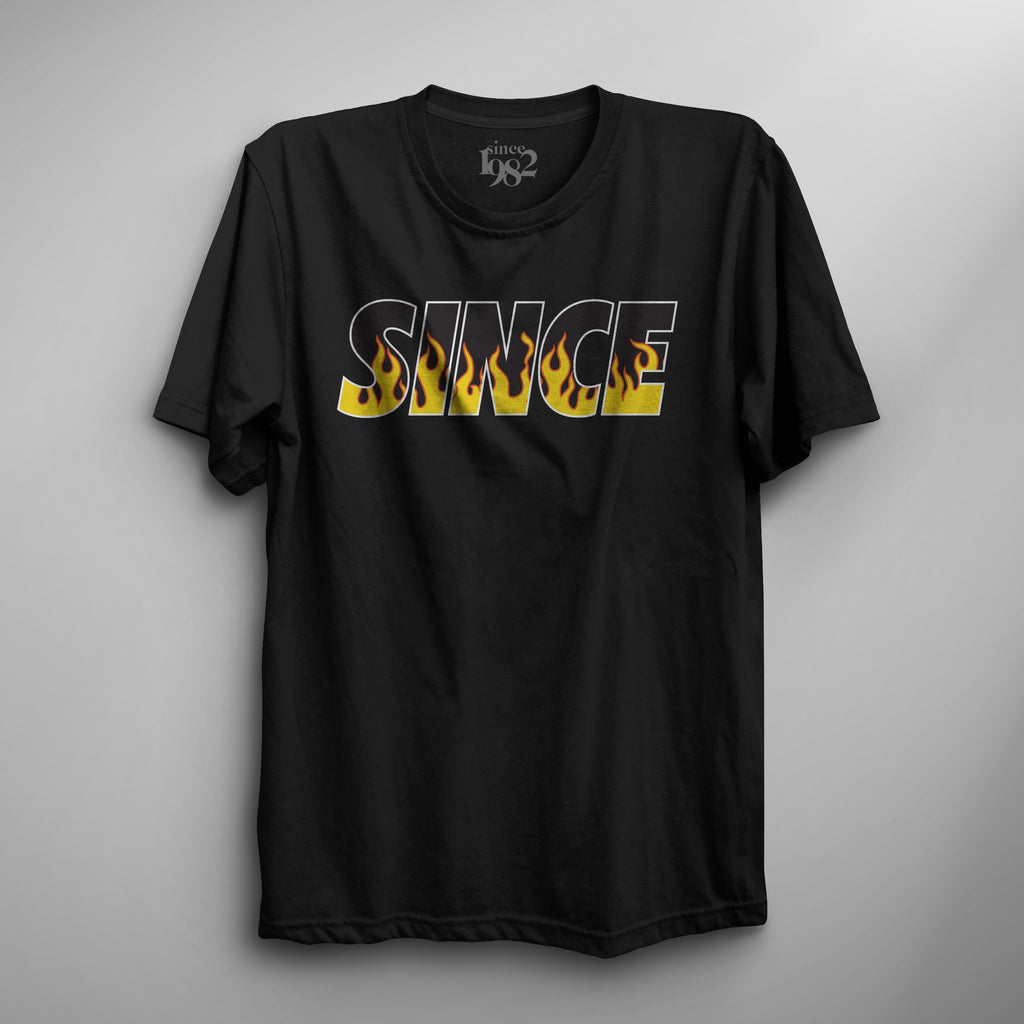 Black Since Flame On Tee