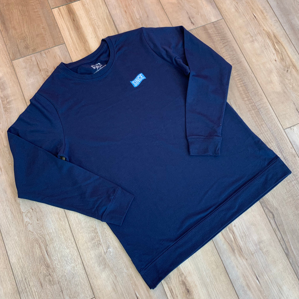 Navy French Terry Long Sleeve