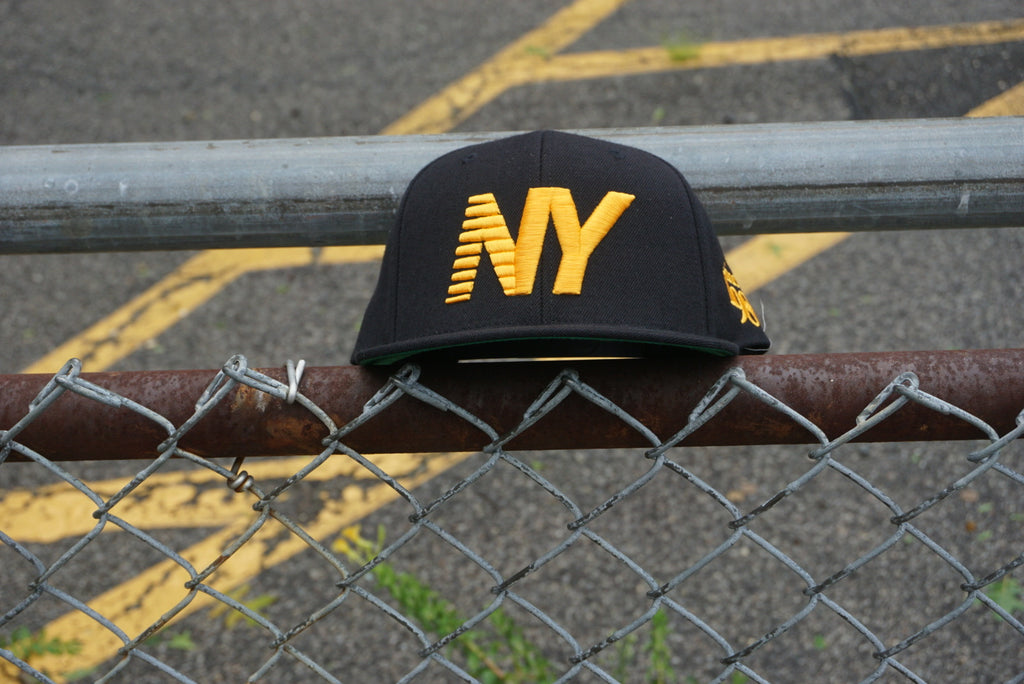 Black x University Gold NY Balance Snapback
