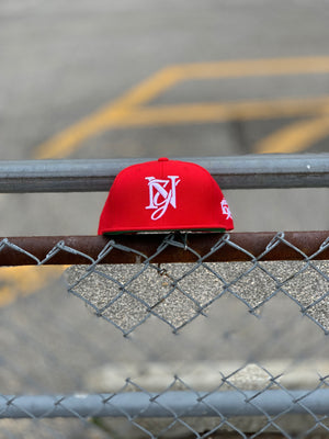 Red x White Monogram Snapback