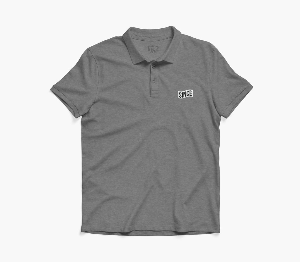 Grey Since Flag Polo