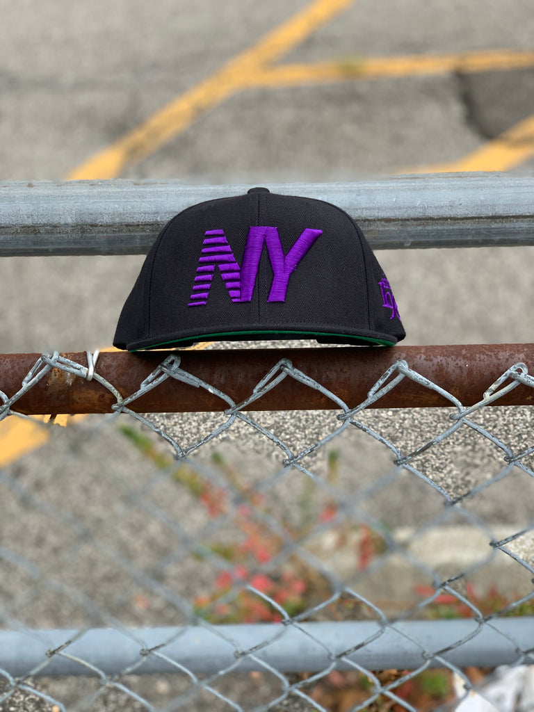 Black x Purple NY Balance Snapback