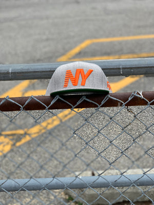 Grey x Orange NY Balance Snapback
