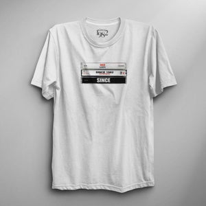 White Vintage Since Tapes Tee (Pre-order, ships week of 7.1.19)